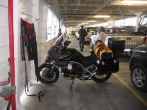 Special MC parking on the ferry